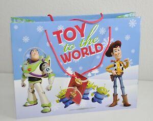 Disney Toy Story Woody Buzz Gift Bag & Tag Glossy Medium Size Christmas New