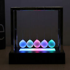 Newtons Cradle Lamp LED Light Up Kinetic Energy Science Toy Kids Christmas Gift