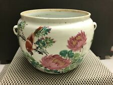 Antique Chinese Republic China Period Hand Painted Famille Rose Porcelain Pot