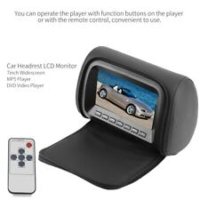 "7"" HD Car Widescreen Headrest LCD Monitor MP5 DVD Video Player + Remote Control"