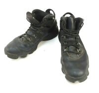 Nike Air Jordan Triple Black Shoe Style 414845-001 Men's US Size 11.5 Used Cndt.