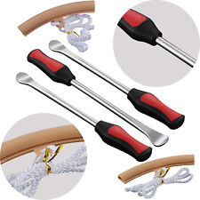 3PC Tire Lever Tool Spoon Motorcycle Tire Iron Changing+2x Wheel Rim Protectors