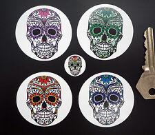 Giorno dei morti zucchero Teschio adesivi 50mm x4 Messicano Rockabilly día DE Muertos