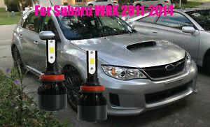 LED For Subaru WRX 2011-2014 Headlight Kit H11 6000K White CREE Bulbs Low Beam