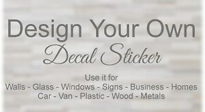 Personalised Wall Sticker Custom Vinyl Decal Mural Personalise Quote image