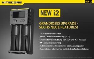 universal Ladestation Nitecore Sysmax I2 für Ihre Fenix Led Lenser Akkus