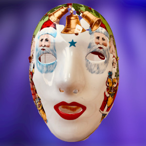 Vandor Pelzman Designs Japan Mask Ceramic Wall Decor Christmas Vintage 1983