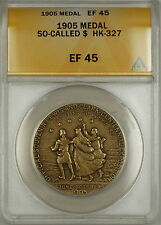 1905 Lewis and Clark So-Called Dollar Medal HK-327 ANACS EF-45