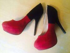 New Look Faux Suede Upper Standard (D) Heels for Women
