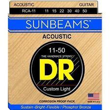 DR RCA-11 Sunbeam Acoustic Guitar Strings Med/Lite gauges 11-50