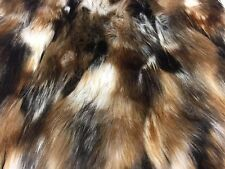 Luxurious Faux Fur Fabric Animal Design Multicolor Mix. Sold By the yard