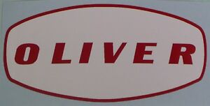 """4"""" DECAL for OLIVER Pedal Tractor Wagon, Red on White, Adhesive-backed OP123"""