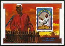 Gambia 1190 S/S, MI Bl.141, MNH. Famous Musicians: Gambian string drummer, 1992