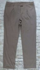 Peck & Peck Brown Tan Career Women's Pleated Dress Pants Size 14 Inseam 32