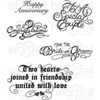 Heartfelt Creations Cling Rubber Stamp Set - Classic Wedding Wishes HCPC 3790