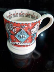 Emma Bridgewater Half Pint Mug -  90th Birthday of Her Majesty the Queen  -  New