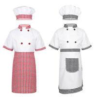 Kids Boys Girl Doctor Nurse Coat&Cook Chef Fancy Dress Cosplay Dress Up Costume