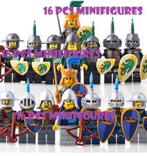8/21 Pcs Minifigures MOC Gold Medieval Knights Castle Kingdoms Dragon Knight