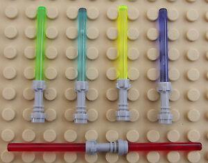 5 x Lego Star Wars Mini Figure NEW Lightsaber Light Saber Darth Maul Vader Red