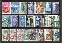 REP005 - ITALIA REPUBBLICA 1951 ANNATA FRANCOBOLLI USATI