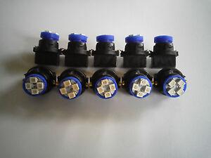 Fit Mitsub 10 Blue 4 LED Dashboard Instrument Panel Indicator Light Bulb Socket
