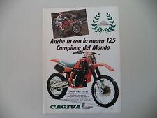 advertising Pubblicità 1986 MOTO CAGIVA WMX 125