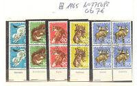 TIMBRES SUISSE BLOCS DE 4 PRO JUVENTUTE ANIMEAUX oblitéré ANNEE 1965 COTE 7,00 €