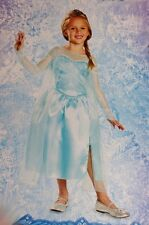 Girls ELSA Frozen Halloween Costume Dress Glitter Child Size Small 4 5 6 6X NEW