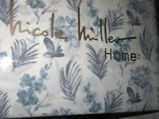 Nicole Miller Home 100% Cotton QUEEN Sheet Set Orchids Tropical Floral NEW