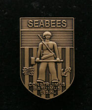 SEABEES WWII SEABEE US NAVY USN USS HAT LAPEL PIN SEA BEE OFFICER SAILOR CHIEF