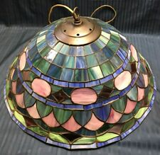 """Vintage Tiffany Style Hanging Light Lamp Shade Stained Glass Ceiling Fixture 22"""""""