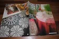 die MASCHE # 57 -- KUNSTHÄKELN / Irische Häkelei-Filet Bettdecke-schöne Deckchen