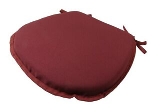 Simply Wine D-Shaped Garden/Patio/Kitchen/Dining Tie-On seat pads *3 Sizes*