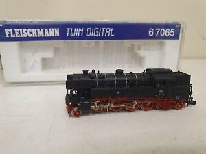 Fleischmann piccolo locomotive a vapeur br 65018 digital ref: 6 7065   En N