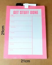 Pink Weekly Magnetic Fridge To Do Planner Organiser Whiteboard & Marker 29x21cm
