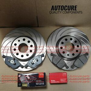 FOR MINI COOPER S 2.0 F56 FRONT OEM BLUEPRINT DRILLED DISCS 294MM + APEC PADS