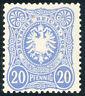 DR 1885, MiNr. 42 I ba, postfrisch, gepr. Wiegand, Mi. 170,-