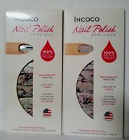Lot of 2 sets INCOCO Nail Polish APPLIQUE 16 double ended strips ea MASTERPIECE