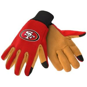 SAN FRANCISCO 49ERS NFL TEXTING TECHNOLOGY GLOVES