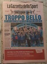 Gazzetta dello sport  12/07/2021 ITALIA CAMPIONE D'EUROPA EURO 2020