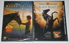 DVD Lot of 2 - Black Beauty (New) Disney's Secretariat (New, case damage)