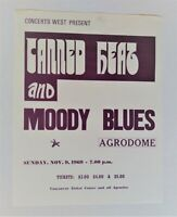 MOODY BLUES-CANNED HEAT 11/1969 Agrodome Original Vintage Concert Handbill
