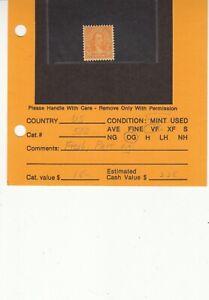 1922 Mint Hinged 10ct Yellow-Orange Monroe #562