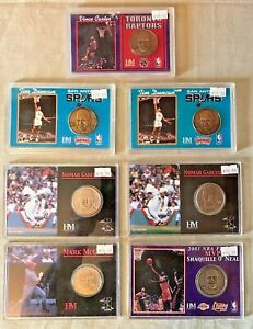 (Lot of 7) Highland Mint Coin Sets Shaquille McGwire Carter Duncan Garciaparra
