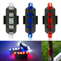 5 LED Rechargeable USB Bike Tail Light Bicycle Safety Cycling Warning Rear Lamp