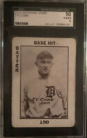 TY COBB 1913 NATIONAL GAME - PORTRAIT- ULTRA RARE🔥GRADED SGC 4 (50) VG/EX🔥