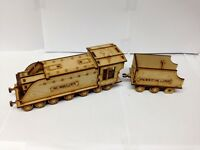 TTCombat Old Town Scenics - Steam Train Engine & Coal Cart - Great for Malifaux