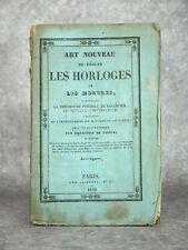 ART NOUVEAU DE REGLER LES HORLOGES ET LES MONTRES. LA THEORIE DU PENDULE. 1835.