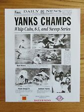 Daily News 1938 NEW YORK YANKEES WORLD CHAMPIONS PHOTO Joe Dimaggio Lou Gehrig