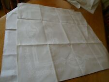 More details for set of 6 vintage irish linen damask table napkins - 23 inches square
